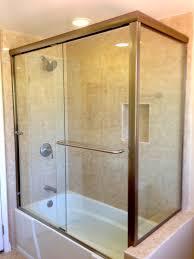 splendorous tub sliding glass door white tub combined with sliding glass door also silver steel towel