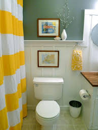 apartment bathroom wall decor. Yellow Bathroom Shower Curatin Apartment Wall Decor