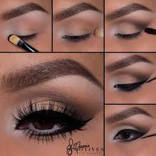 brown eyeshadows lower lash line eyeliner