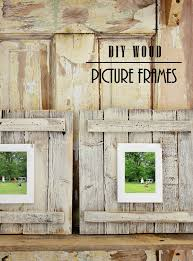 easy diy wood picture frame project