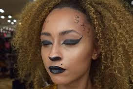 easy halloween makeup in leopard cheetah print