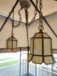hanging lamps value twin swag chandelier double ceiling lamp vintage stained glass glas vintage stained glass