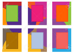 multiple empty picture frames. Vector Illustration Collage Of Six Frames With A Multi-colored . Multiple Empty Picture