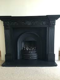 black fireplace surround cast iron fireplace insert and wooden surround vintage black period honed black slate black fireplace surround