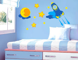 rocket ship wall decals rocket outer space kids vinyl wall decal sticker  for rocket outer space