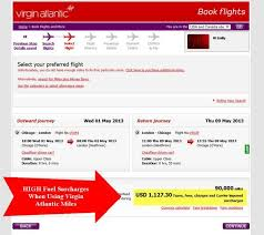 Virgin Atlantic Fuel Surcharge Million Mile Secrets