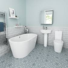 1500x800mm Isla Freestanding Bath with Albi Suite - Small