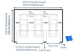 triple garage dimensions with 2 doors including garage door dimensions through for more on garage design and home design