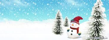 Holidays Snowman Catoon Christmas Winter Snowman Facebook Cover Holidays