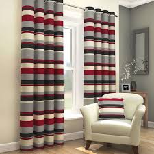 black red grey striped lined eyelet curtains