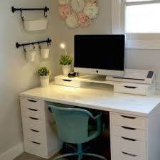 Ikea office inspiration Womens Home Office Craft Room Ikea Alex Linnmon Diy Crafts Pinterest Ikea For Ivchic Desk Residence Inspiration Ideas With Exciting Ikea Desk Ideas