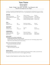 Acting Resume Template 100 acting resume template word Professional Resume List 56