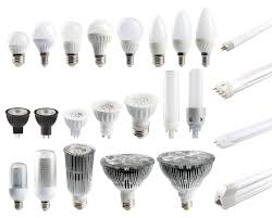 Different Types Of Led Lights A Large Set Of Led Bulbs Isolated On White Background