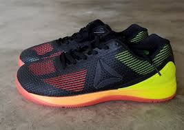 reebok nano 7. for those that do crossfit, this may not be big of a benefit. i remember when started loved the fact my apparel and shoes said reebok nano 7 o