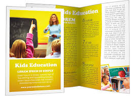 Education Brochure Templates Educational Pamphlet Template Sinma Carpentersdaughter Co