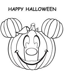 Cute Halloween Coloring Pages Minnie Mouse