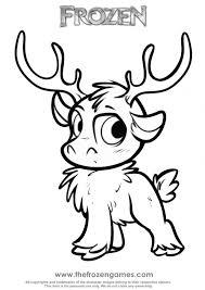 Small Picture Awesome Sven Reindeer Coloring Pages Pictures New Printable