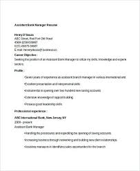 Assistant Bank Manager Resume Template Professional Manager Resume