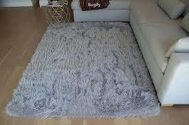 faux fur area rugs furry fluffy fuzzy soft solid sheepskin lambskin sheep hide animal skin living room bedroom nursery floor rug carpet indoor silver canada