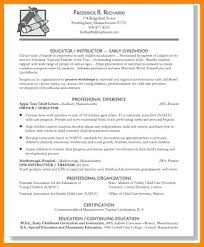 Early Childhood Education Resume Teacher Resume Objective Unique Magnificent Early Childhood Education Resume