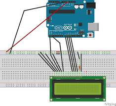 16x2 lcd interfacing arduino uno circuit diagram and c code circuit diagram for lcd interfacing arduino