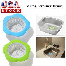 45 Plastic Kitchen Sink Drain Strainer Filter Bathroom Hair