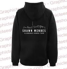 Shawn Mendes Hoodie Size Chart Shawn Mendes Illuminate World Tour Hoodie Back