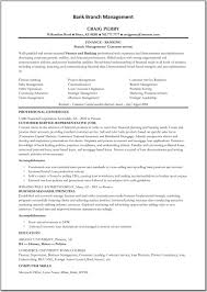 Bank Manager Resume Latest Resume Format