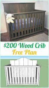 diy baby furniture. DIY $200 Wood Crib Instruction - Baby Projects [Free Plans] Diy Furniture L