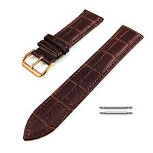 rolex compatible brown croco leather replacement watch band strap rose gold steel buckle 1072 loading zoom