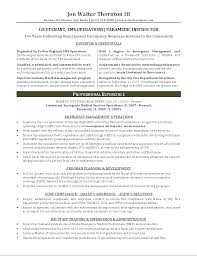 Paramedic Resume Examples Examples Of Resumes