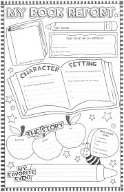 Book Report Template Book Report Poster Updated Squarehead Teachers