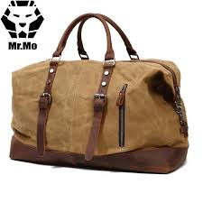 large canvas duffle bag vintage canvas leather men travel bags carry on luggage bags men duffel travel tote briefcases overnight bags from amoyshoes
