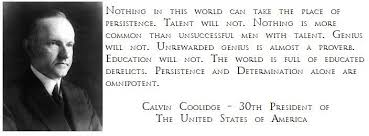Kenny Nguyen On Twitter Persistence Quote By Calvin Coolidge Inspiration Calvin Coolidge Quotes Persistence