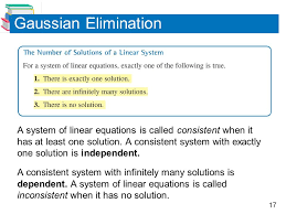 a system of linear equations is called inconsistent when it has no solution gaussian elimination
