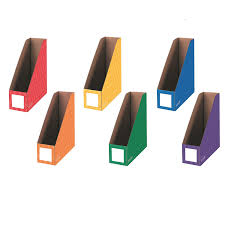 Cardboard Magazine Holder Amazon Bankers Box Classroom Magazine File Organizers 100 84