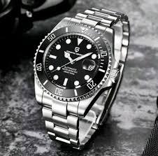 <b>Pagani design</b> submariner automatico orologio da uomo nero 007 ...