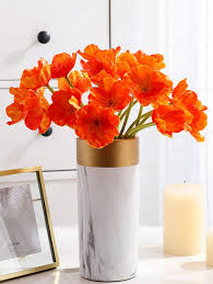 Silk Flowers Orange Artificial Flowers Sale, Price & Reviews ...