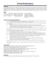 Ernest Professional Industrial Engineering Of Technology Resume Awesome Industrial Engineer Resume