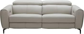 Light Grey Leather Recliner Sofa Lorenzo Light Grey Leather Reclining Sofa Antidiler