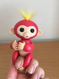 WowWee Fingerlings Baby Monkeys Interactive Toy BELLA (RED with ...