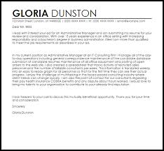 Admin Manager Cover Letter Sample Cover Letter Templates Examples