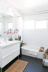 Black Tile Bathroom Floor Hello Victoria