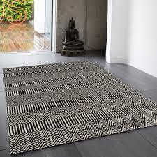 sloan black white geometric rug by asiatic 1