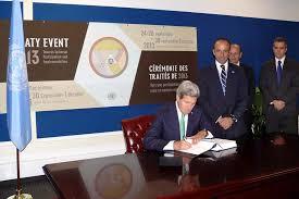 Kerry Signs UN Arms Trade Treaty — Civilian Disarmament Advancing