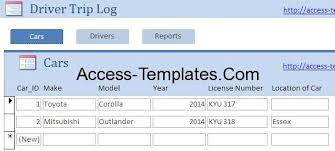 Drivers Log Book Sample Drivers Log Book Template And Sample For Microsoft Access