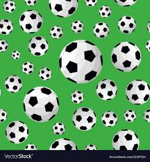 Football Pattern Simple Soccer Ball Seamless Football Background Pattern Vector Image