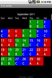 Firefighters Shift Calendar 2020 Fire Shifts Fire Fighter And Ems Calendars For Android Ios