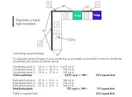 how to measure countertop square footage this diagram will measure kitchen countertops square feet
