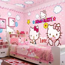 2015 new children's bedroom Hello Kitty Fashion Wallpaper, wallpaper design  Non woven wall paper fashion warm-in Wallpapers from Home Improvement on ...